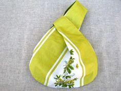 """Projektbeutel, Knotentasche, """"Blume"""", gelb, Tasche"""