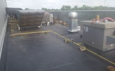 EPDM Membrane Flat Roof Commercial Re-Roof Edmonton June 10, 2015 Flat Roof Replacement, Roof Repair, Commercial, June