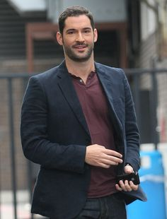 Miranda's Tom Ellis. He is a British mix of Zachary Levi and Paul Rudd.