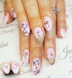 Have you discovered your nails lack of some modern nail art? Sure, recently, many girls personalize their nails with lovely … Baby Nail Art, Baby Girl Nails, Girls Nails, Heart Nail Designs, Best Nail Art Designs, Nail Designs Spring, Trendy Nail Art, Stylish Nails, Cool Nail Art