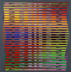 Francis Hewitt, Untitled (Multicolor), c.1965, 24 x 24 inches, acrylic on canvas