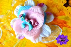 Blue My Little Pony fascinator (Sweetie Blue), geeky, princess, blue hair clip, Kawaii, blue hair flower, cute, fancy, cosplay