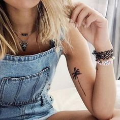 Elma (Palm Tree) - Highjacked Tattoos - Lasts Two-Weeks - 100% Organic - Gluten Free - Free shipping within the U.S.