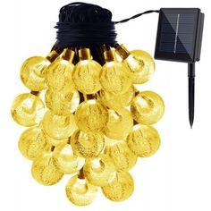 KWB LED Solar String Lights 7M 50 Balls LED Crystal Ball Waterproof Outdoor String Lights