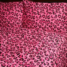 Sin in Linen Pink Leopard Duvet Cover, King Pink Leopard Print, Cheetah Print, Leopard Bedding, Pink Bedding, Cotton Bedding, Luxury Bedding, Catty Noir, Coat Of Many Colors, Bed Duvet Covers