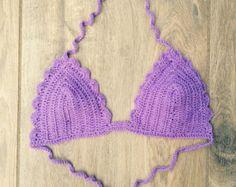 Crochet el bikiní... Bikini triángulo