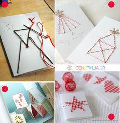 κεντημενες χριστουγεννιατικες καρτες 1.  WeihnachtskartenentwürfeWeihnachtskartenWeihnachtsdekoration
