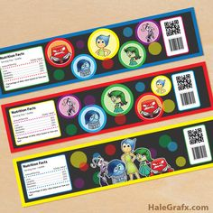 Click here to download FREE Printable Inside Out Water Bottle Labels!