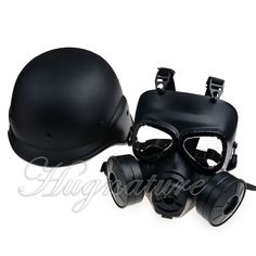 M88 Paintball Classic Safety Helmet and M04 Airsoft Protecter Full Face Goggles