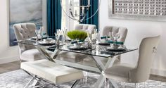 Cerulean Axis Dining Room Inspiration