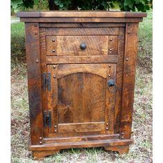 Autumn Comfort Rustic Barnwood Nightstand