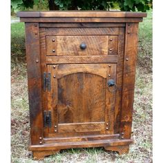 Autumn Comfort Rustic Barnwood Nightstand by Idaho Wood Shop - Beautiful!