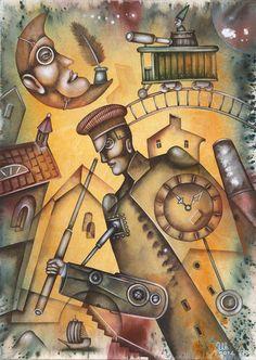 Mechanic Warrior by Eugene Ivanov, watercolor on paper, 29 X 41 cm, $250. #eugeneivanov #@eugene_1_ivanov #modern #original #oil #watercolor #painting #sale #art_for_sale #original_art_for_sale #modern_art_for_sale #canvas_art_for_sale #art_for_sale_artworks #art_for_sale_water_colors #art_for_sale_artist #art_for_sale_eugene_ivanov