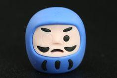 Blue Daruma Japanese Eraser