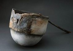 Christine Fabre    Raku  I like this - the smooth round bottom, the rough straight top, the texture, the colours, the whole pot is beautiful!