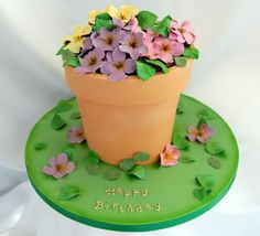 How To Make A Sugar Rose Mcgreevy Cakes Tutorial Wie man ein Sugar Rose Mcgreevy Cakes Tutoria Cake Icing, Fondant Cakes, Cupcake Cakes, 70th Birthday Cake For Women, Cake Birthday, Mothers Day Cakes Designs, Grandma Cake, Flower Pot Cake, Fab Cakes