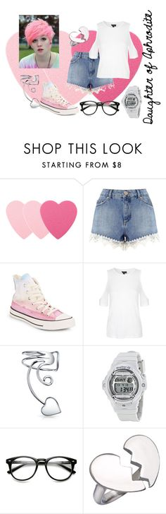 """""""Percy Jackson Inspired: Daughter of Aphrodite"""" by fandomzzforlyfe ❤ liked on Polyvore featuring Sephora Collection, Miss Selfridge, Converse, Topshop, Bling Jewelry, Casio, Blu Bijoux, percyjackson, pjo and heroesofolympus"""