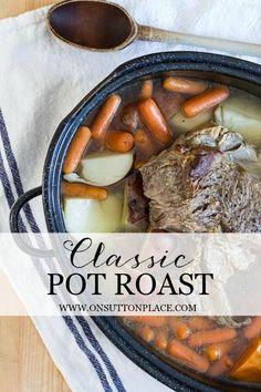 My Mom's Pot Roast | Classic recipe that's so easy! | onsuttonplace.com