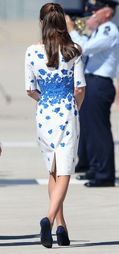 Catherine, Duchess of Cambridge arrives at the Royal Australian Airforce Base at Amberley on April 19, 2014 in Brisbane, Australia.
