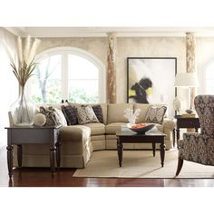Add throw pillows in sophisticated patterns to sofas in soft neutrals from our Custom Select upholstery line for a polished look. http://kincaidfurniture.com/