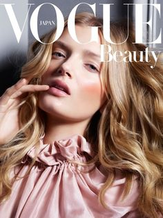 Who What Wear Blog 6 Pretty Pink Beauty Looks Vogue Japan Beauty Editorial Model Lily Donaldson Photographer Jem Mitchell Make Up Hair Lloyd...