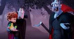 Dennis (Asher Blinkoff), Dracula (Adam Sandler) and Vlad (Mel Brooks) in Columbia Pictures and Sony Pictures Animation's HOTEL TRANSYLVANIA 2.