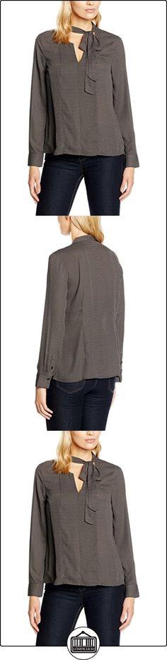 s.Oliver BLACK LABEL 11.609.11.3992, Blusa para Mujer, Grau (Grey/Black Aop 98A1), 38 (Talla del Fabricante: 34)  ✿ Blusas y camisas ✿