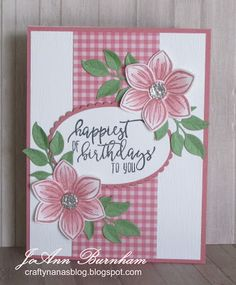 Happiest of Birthdays Homemade Birthday Cards, Homemade Cards, Card Making Inspiration, Making Ideas, Poinsettia Cards, Beautiful Handmade Cards, Stamping Up Cards, Card Sketches, Paper Cards
