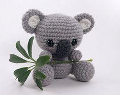 PATTERN: Crochet koala pattern - amigurumi koala pattern - koala bear - baby koala stuffed animal - PDF crochet pattern