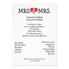 Mrs and Mrs Love Heart Lesbian Wedding Cards.  $1.95