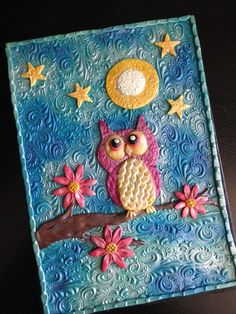 Hey, I found this really awesome Etsy listing at https://www.etsy.com/listing/246443091/sold-polymer-clay-journal-goodnight-owl