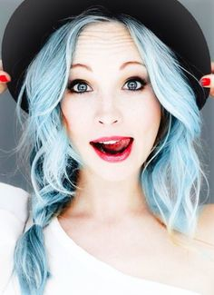 Powder blue hair