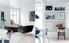 Lys bylejlighed: Enkel stil med arvemøbler