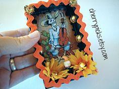 Dia De Los Muertos  Loteria  Nicho  Day Of The Dead by CherryPicks, $27.00