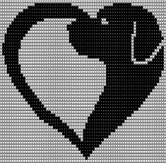 Most current Pictures Needlepoint patterns geometric Thoughts Herz mit Hundekopf C2c Crochet, Crochet Cross, Tapestry Crochet, Crochet Chart, Needlepoint Patterns, Embroidery Patterns, Crochet Patterns, Cross Stitch Heart, Cross Stitch Animals