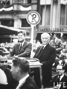 Konrad Adenauer (R) with President John F. Kennedy (L).Germany July 1963  ❤❁❤❁❤❁❤❁❤❁❤  http://www.jfklibrary.org/Asset-Viewer/Archives/JFKPOF-117-015.aspx  http://en.wikipedia.org/wiki/Ich_bin_ein_Berliner  http://en.wikipedia.org/wiki/John_F._Kennedy  http://www.nps.gov/nr/travel/presidents/john_f_kennedy_birthplace.html       :