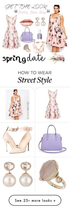 """""""Pretty Plus Size"""" by andreaguillen-713 on Polyvore featuring Chi Chi, LASplash, Samira 13, Kate Spade, Essie and Topshop"""