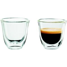 Delonghi Espresso Cups - 2pk ($15) ❤ liked on Polyvore featuring home, kitchen & dining, drinkware, food, drinks, fillers, food and drink, brown, coffee and coffee accessories