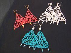 ORECCHINI  UNCINETTO triangolo, by maglieria magica, 9,50€ su misshobby.com