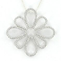 dd7a3ccb3f95 Ramona Singer Sterling Silver Pierced Flower Necklace. I have wanted this  necklace for SO long