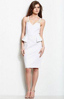 #Ponte Peplum Dress @A|X Armani Exchange  street fashion #2dayslook #new style #fashionforwomen  www.2dayslook.com
