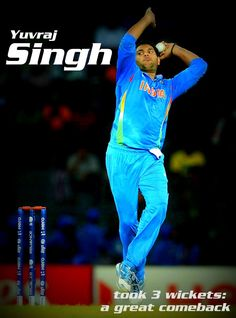 Yuvraj took 3 wickets which contributed to the victory against Afghanistan #wt20