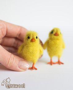 Aiguille feutrée poulet par NatalyArtWool sur Etsy