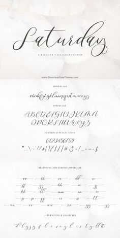 A beautiful new hot Calligraphy Font Saturday This font includes all upper and lower case standard character, punctuation, numerals, alternative and beginning, Graffiti Lettering Fonts, Hand Lettering Alphabet, Lettering Styles, Calligraphy Letters, Typography Fonts, Script Fonts, Modern Calligraphy Alphabet, Calligraphy Doodles, Graffiti Alphabet