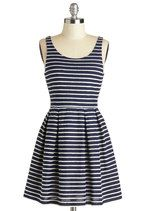 Sweetly Scalloped Dress in Navy | Mod Retro Vintage Dresses | ModCloth.com