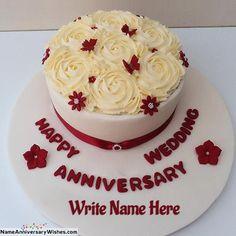Happy Marriage Anniversary Cake, Anniversary Cake Pictures, Anniversary Cake With Photo, Wedding Anniversary Wishes, Simple Anniversary Cakes, Anniversary Cake Designs, Romantic Anniversary, 40th Anniversary, Wedding Wishes