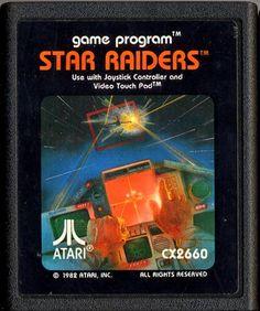 Atari star raiders cartridge gamesdbase | versiona) * C PicBl ©1982,CART1, Atari logo does not touch top of ...