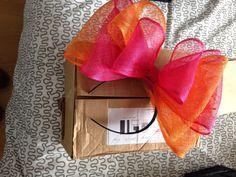 Fasinator pink orange Races Wedding Bow headpiece headband new cond Wedding Fascinators, Wedding Bows, Princess Tiara, Baby Princess, Headpiece, Gift Wrapping, Orange, Pink, Ebay