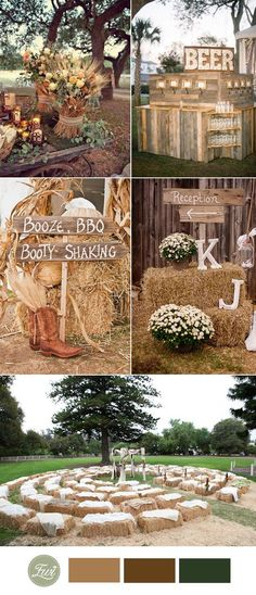 2017 fall country wedding ideas with hay bale