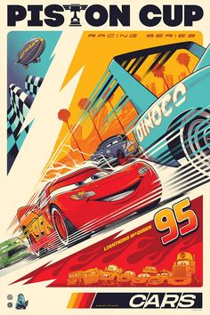 15 Beautifully Reimagined Pixar Movie Posters That Truly Capture The Spirit Of The Films 15 Beautifully Reimagined Pixar Movie Posters<br> Worthy of hanging in a museum, IMO. Disney Cars Movie, Disney Movie Posters, Film Disney, Car Posters, Disney Art, Disney Pixar, Cartoon Posters, Cartoons, Disney Vintage